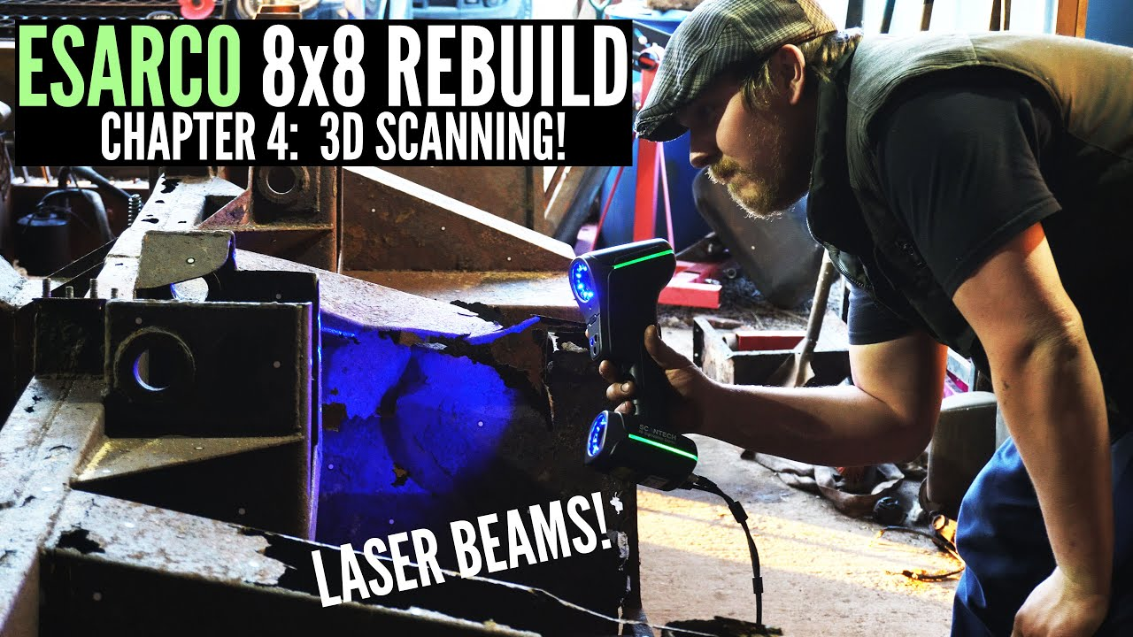 STRANGER LANDIES (Ep. 4) - 3D SCANNING the Esarco 8x8 Chassis!