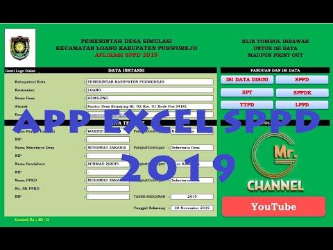 Aplikasi SPPD Excel 2019 dan Cara Mengisinya