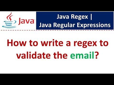 How To Write A Regex To Validate The Email?   Regex In Java