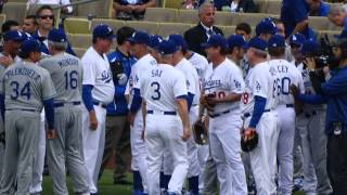 Los Angeles Dodgers Old Timers Game 2015