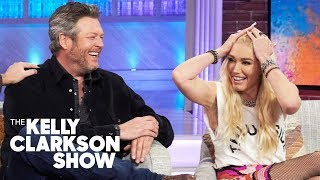 Blake Sheltons Manly Ranch Moves Won Over Gwen Stefanis Family Hear Her Hilarious Story