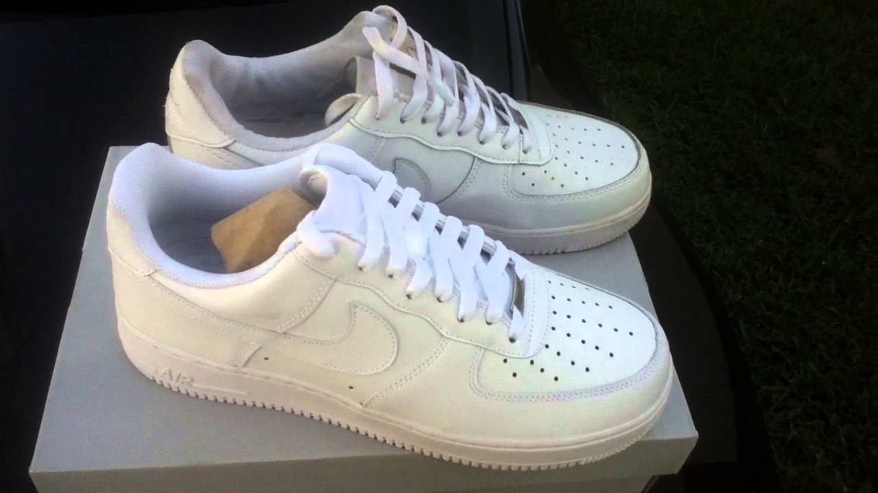 Real Vs Fake Nike AF1 ALL WHITE - YouTube 0b4c9680a