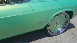 "1965 Impala SS on 28"" Forgiato Fiore Outrageous Paint"