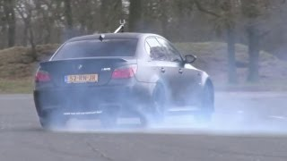 LOUD Hartge BMW E60 M5 V10 w/ Botter Race Exhaust! - Burning some rubber!