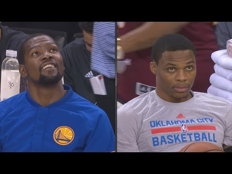 Kevin Durant vs Russell Westbrook 1st Meeting Thunder vs Warriors 11-3-2016