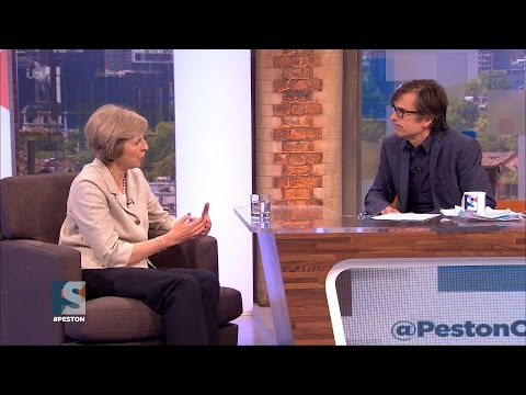 Theresa May speaks to Robert Peston