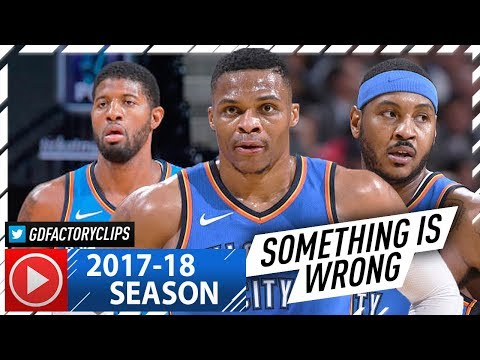 Carmelo Anthony, Russell Westbrook & Paul George Highlights vs Nuggets (2017.11.09) - Melo 28 Pts!