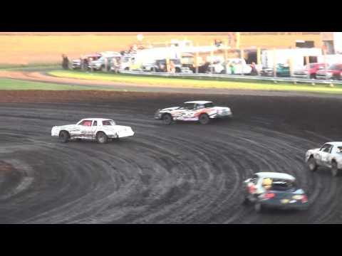 IMCA Hobby Stock Heats Benton County Speedway 9/18/16