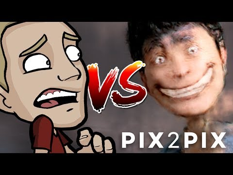 Thumbnail: ARTIST Vs. PIX2PIX - Is this HUMOR or HORROR?!