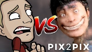 ARTIST Vs. PIX2PIX - Is this HUMOR or HORROR?!