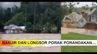 Ngeri, Detik-Detik Bangunan Diseret Air Bah di Bone Bolango !!