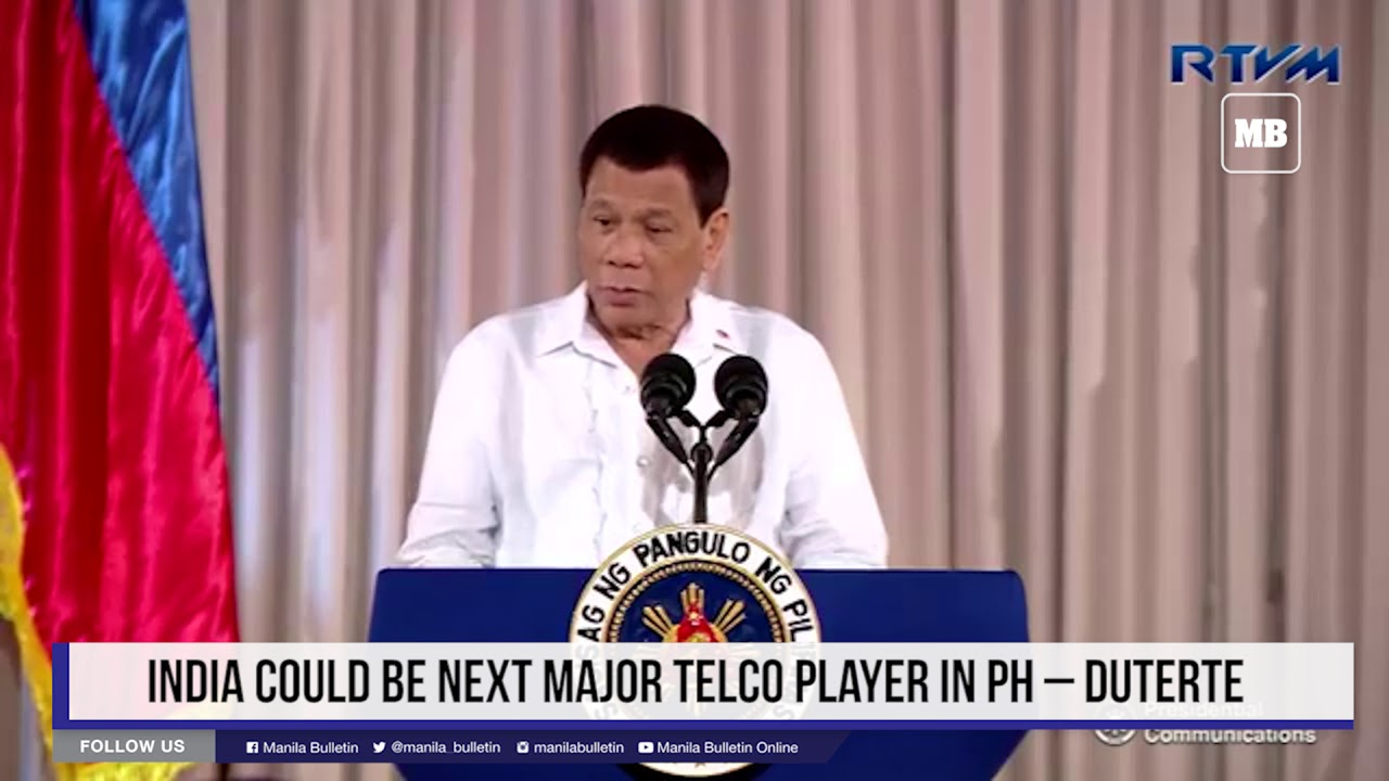 India could be next major telco player in PH – Duterte
