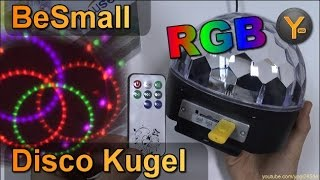 BeSmall RGB LED Disco Kugel mit MP3-Player Funktion von USB/SD-Karte