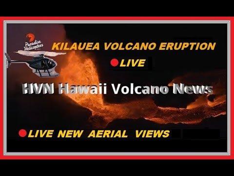 🔴 LIVE KILAUEA AERIAL VIEW 🌋 HVN-HAWAII VOLCANO NEWS