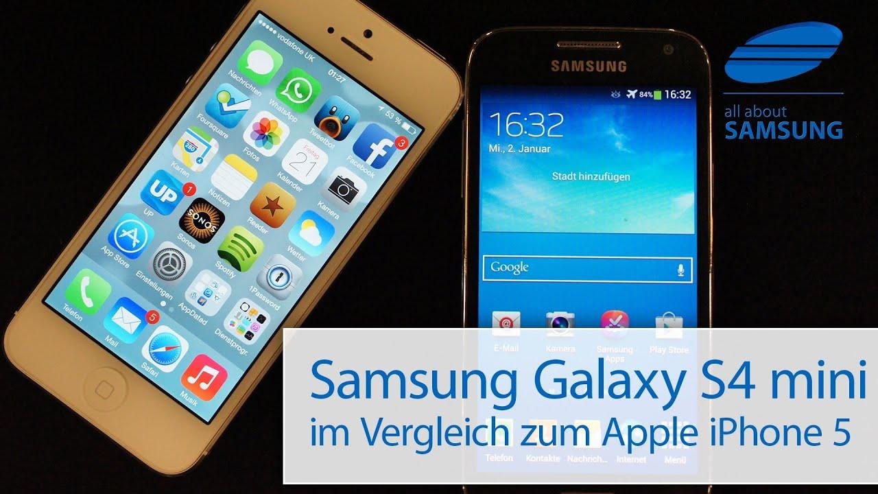 samsung galaxy s4 mini vs iphone 5 vergleich youtube. Black Bedroom Furniture Sets. Home Design Ideas