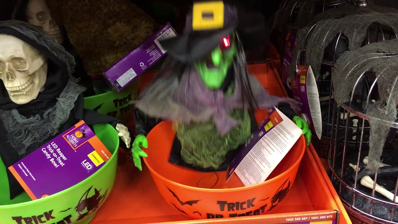 Home Depot Halloween 2017 Witch Candy Bowl - YouTube
