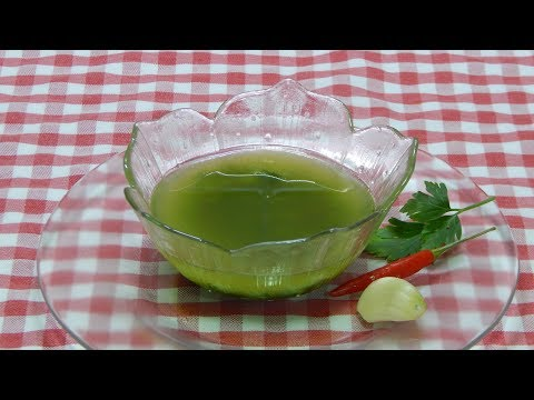 Receta fácil y rápida de salsa mojo verde