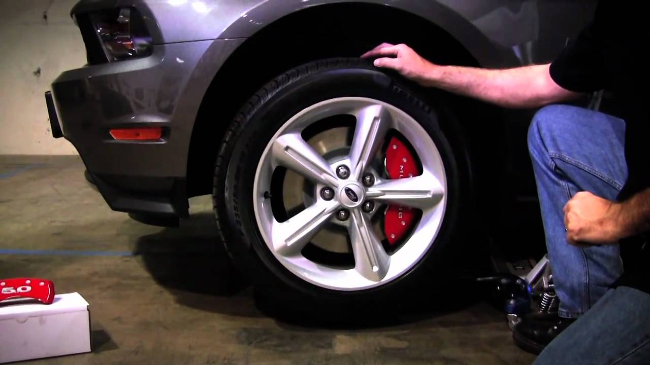 Mgp 2011 Mustang Caliper Cover Installation Youtube