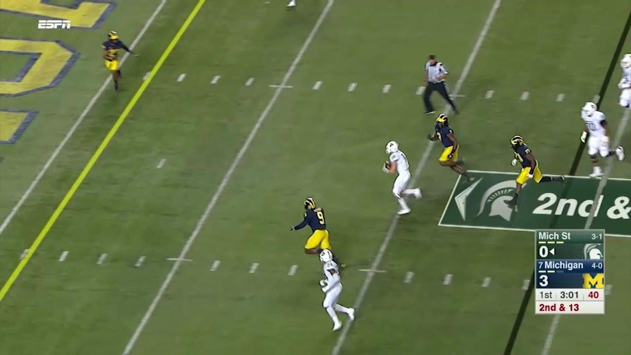 Brian Lewerke's 14-Yard Touchdown vs. Michigan