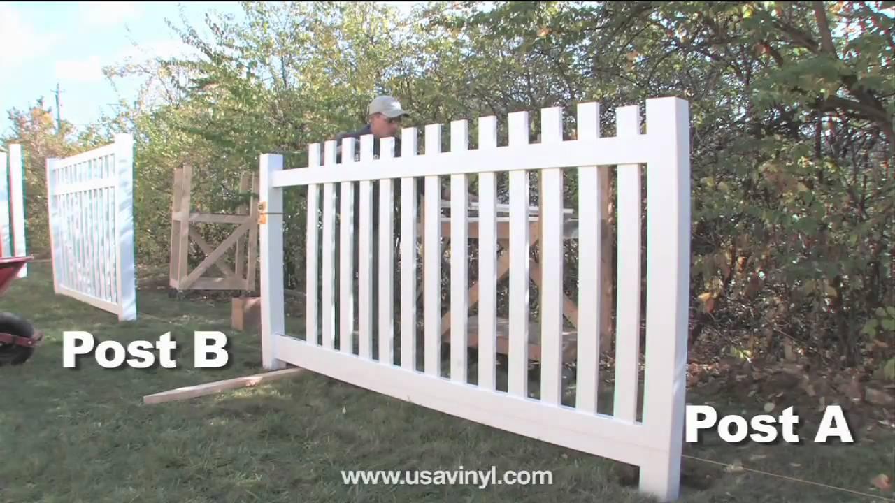 Vinyl Picket Fence Installation From Www Usavinyl Com