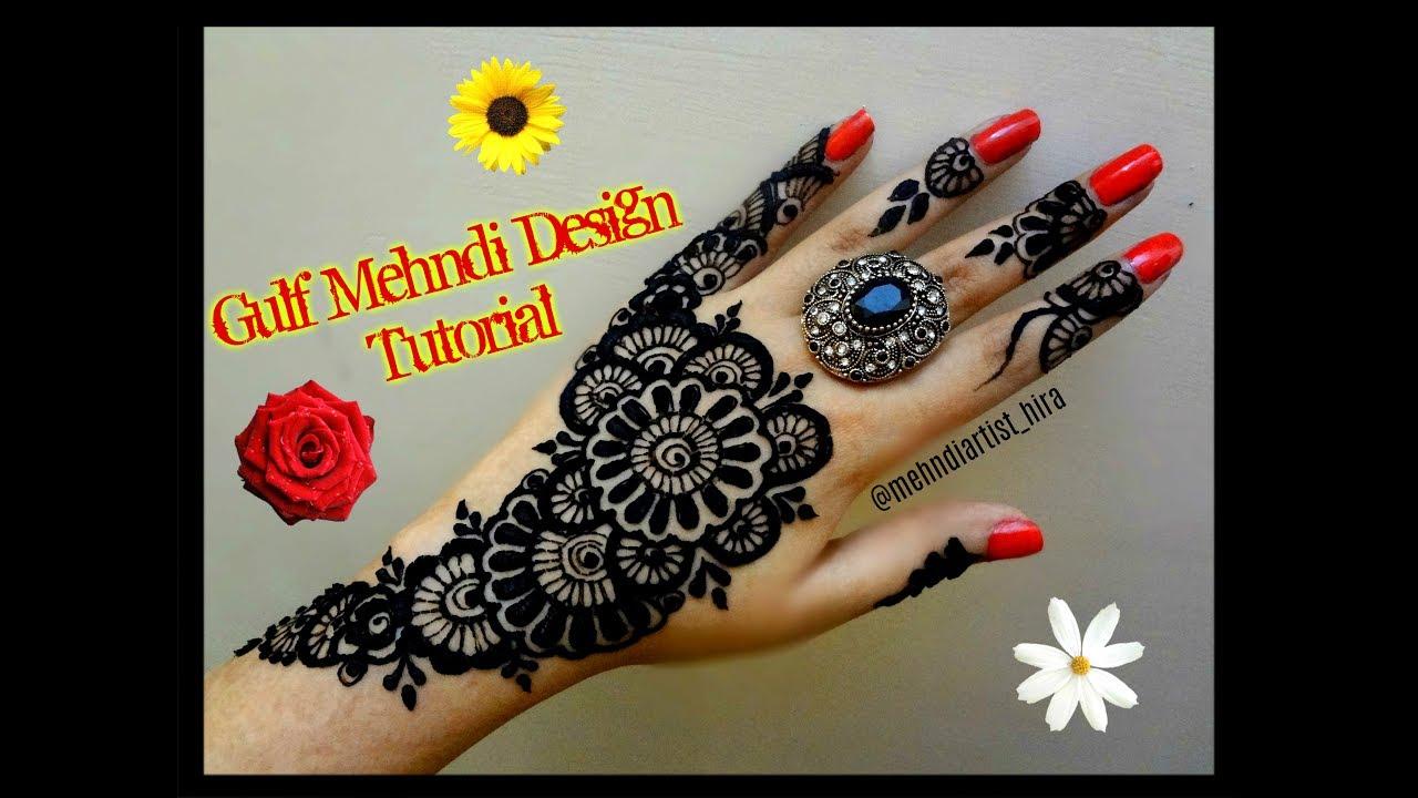 Beautiful khaleeji dubai gulf arabic style henna mehndi designs for beautiful khaleeji dubai gulf arabic style henna mehndi designs for hands for eiddiwali tutorial baditri Images