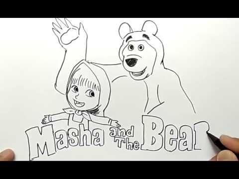 Cara Menggambar Kartun Marsha And The Bear Sederhana Dan Mudah How