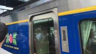 SLやまぐち号のためになかなか発車できない187系・スーパーおき 新山口駅 2017年8月1日