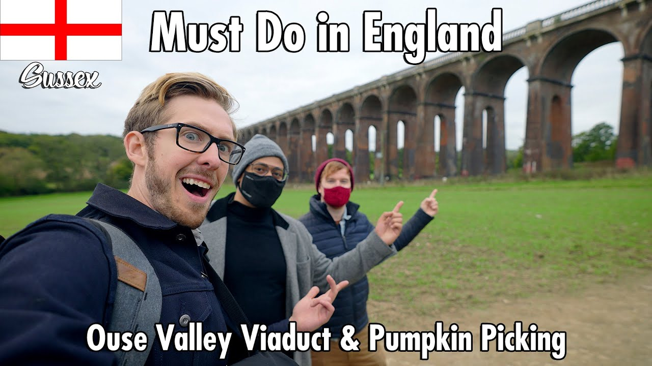 Must Do in England! Ouse Valley Viaduct and Pumpkin Picking!