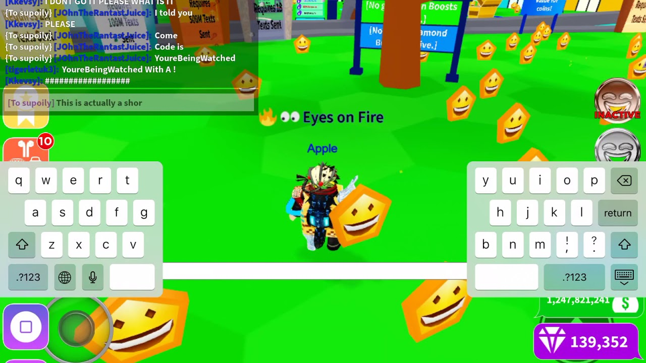The Code To Get The 3x Computer On Roblox Texting Simulator Youtube