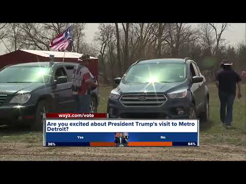 President Trump\'s Michigan rally draws \'Front Row Joes\' from other states