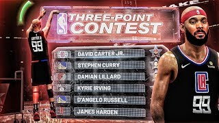 NBA 2K20 My Career - THREE POINT CONTEST vs Steph Curry, James Harden & More | iPodKingCarter