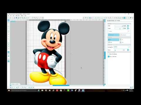 Silhouette Cameo Mickey Mouse Tutorial