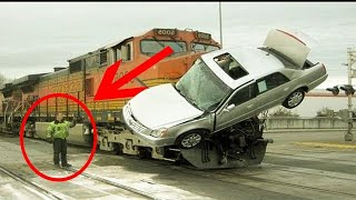 Accident Missed By Inches | Top 10 Luckiest People In The World | Car Accidents | Cheating With Life Resimi