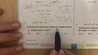 345 AYT Matematik TÜREV-2 Test-5 Anlatımlı Çözümleri (2018-2019 basım)