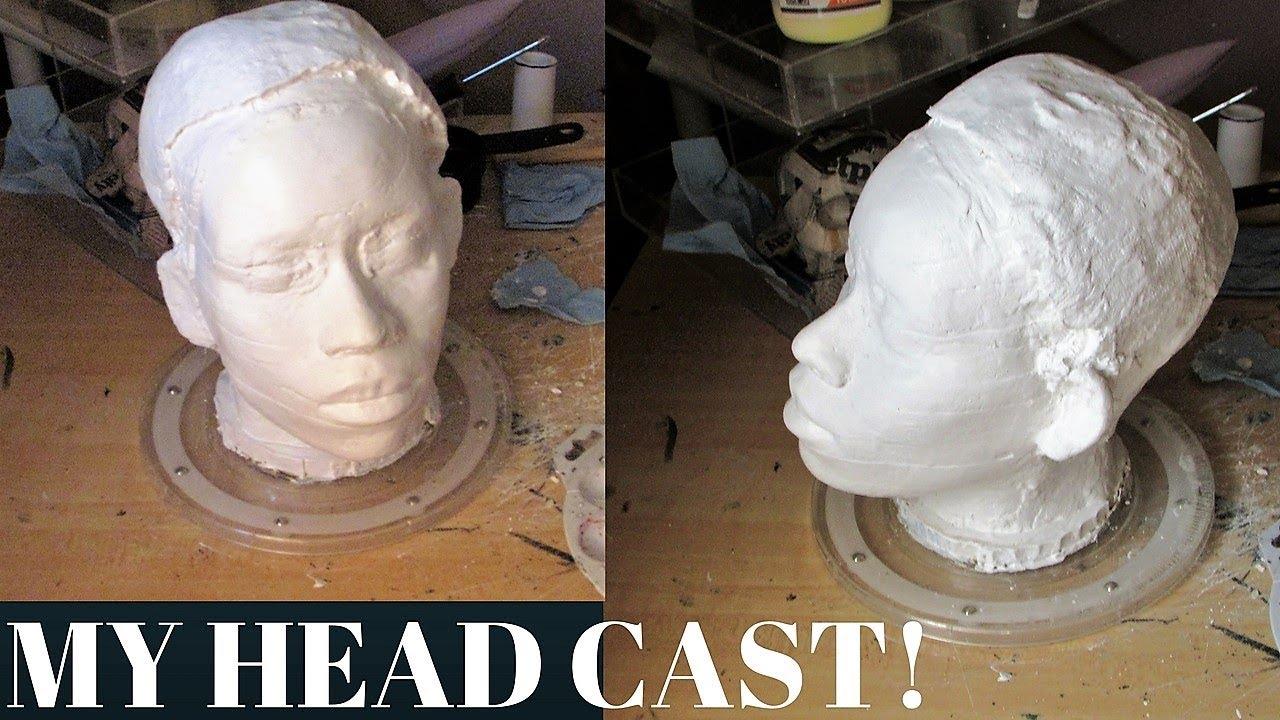 Lifecasting: How to make a lifecast of your head _ part 2