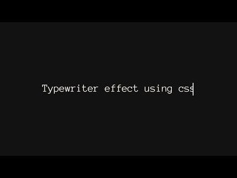Typewriter Effect CSS | HTML & CSS