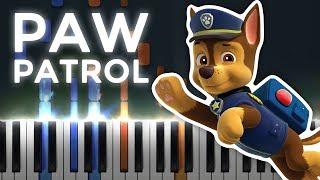 PAW Patrol Theme!   LyricWulf Piano Tutorial on Synthesia