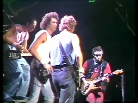 Solid Rock — Dire Straits & Nils Lofgren 1985 Wembley, London LIVE pho-shot