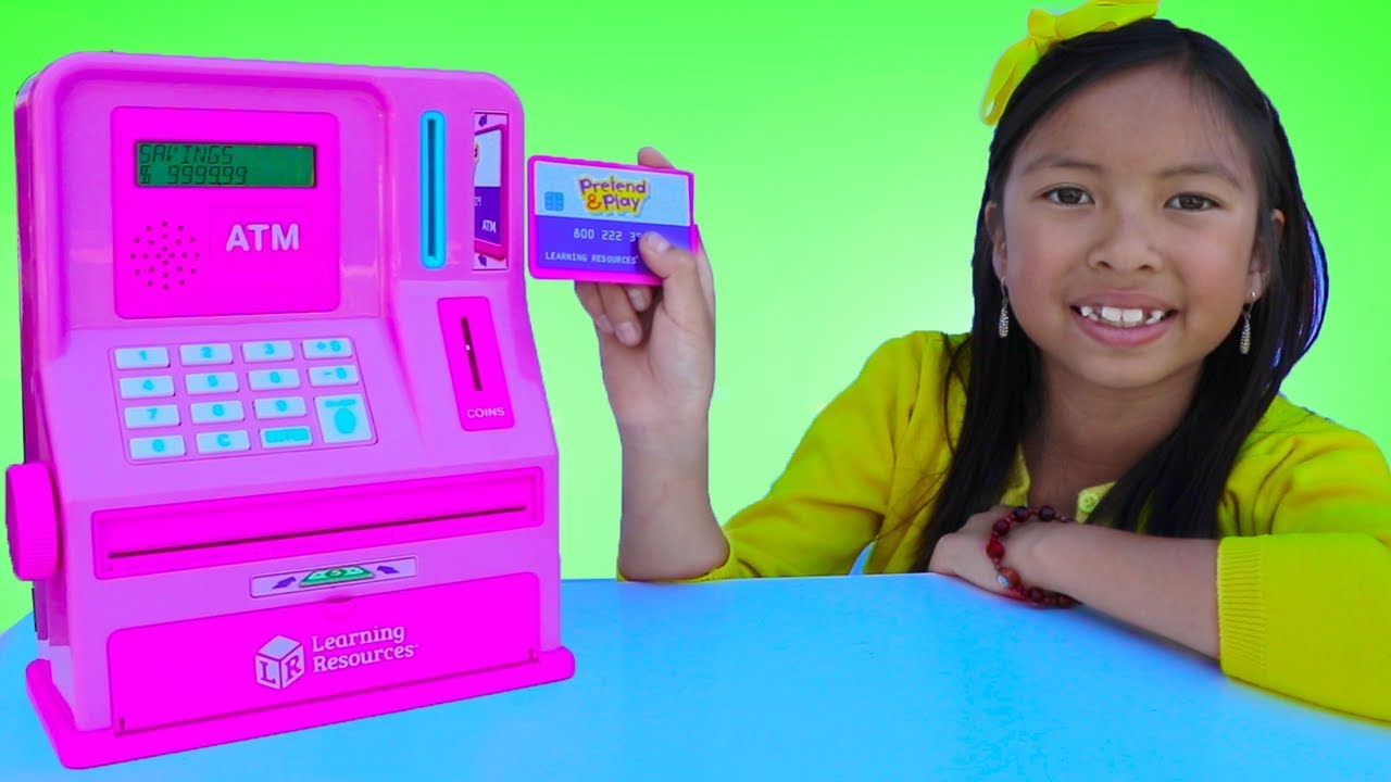 Wendy Pretend Play With Atm Machine Toy Kid Learning How