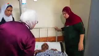 وزيرة الصحة تتفقد حالة مصابي حادث قطار البدرشين