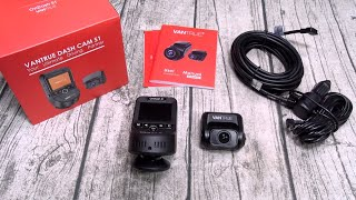 Vantrue Dashcam S1 - Front and Rear Recording