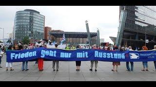 Frieden geht (nur mit Russland!) Finale des Stapellaufs gegen Waffenexporte in Berlin