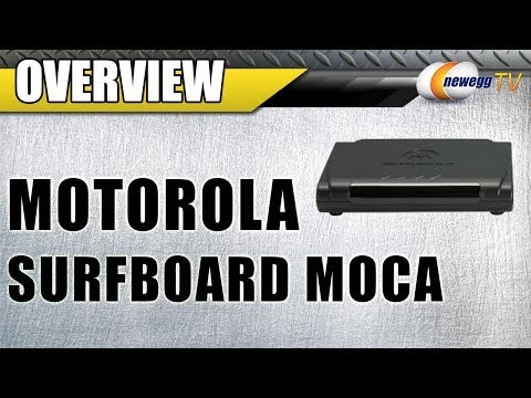MOTOROLA SURFboard MoCA SMART Video Coax Adapter 10/100 Base-T Ethernet Overview - Newegg TV