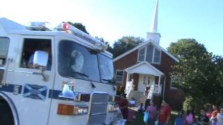 Dalmation In Fire Truck Caseyville Parade 2012
