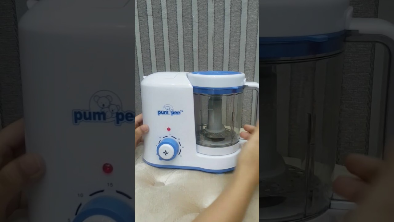 Unboxing Pumpee Steam Blender Baby Food Maker Processor Cooker Safe