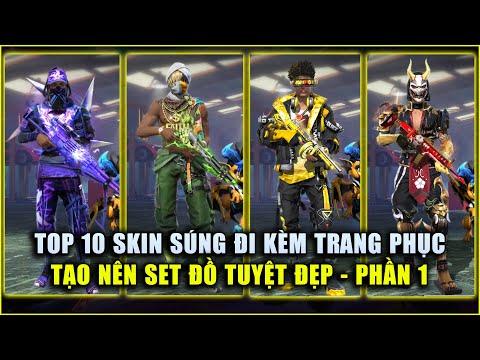 Free Fire | TOP 10 Skin Súng Đi Kèm Trang Phục Tạo Set Đồ Tuyệt Đẹp - PHẦN 1 | Rikaki Gaming