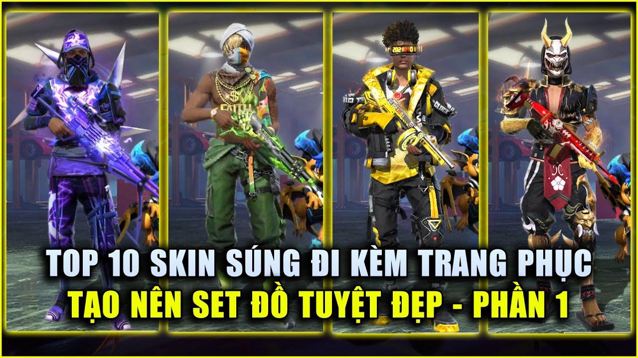 Free Fire | TOP 10 Skin Súng Đi Kèm Trang Phục Tạo Set Đồ Tuyệt Đẹp – PHẦN 1 | Rikaki Gaming | Tất tần tật những kiến thức về free fire skin súng đúng nhất