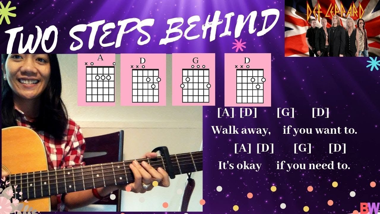 Two Steps Behind Guitar Tutorial with Chords and Lyrics