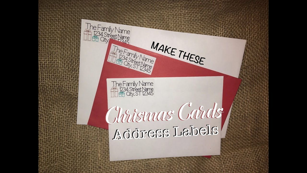 tutorial christmas address labels using cricut pens youtube