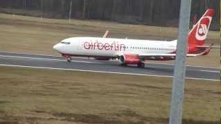 air berlin boeing 737 800 d abkc landing in cologne bonn